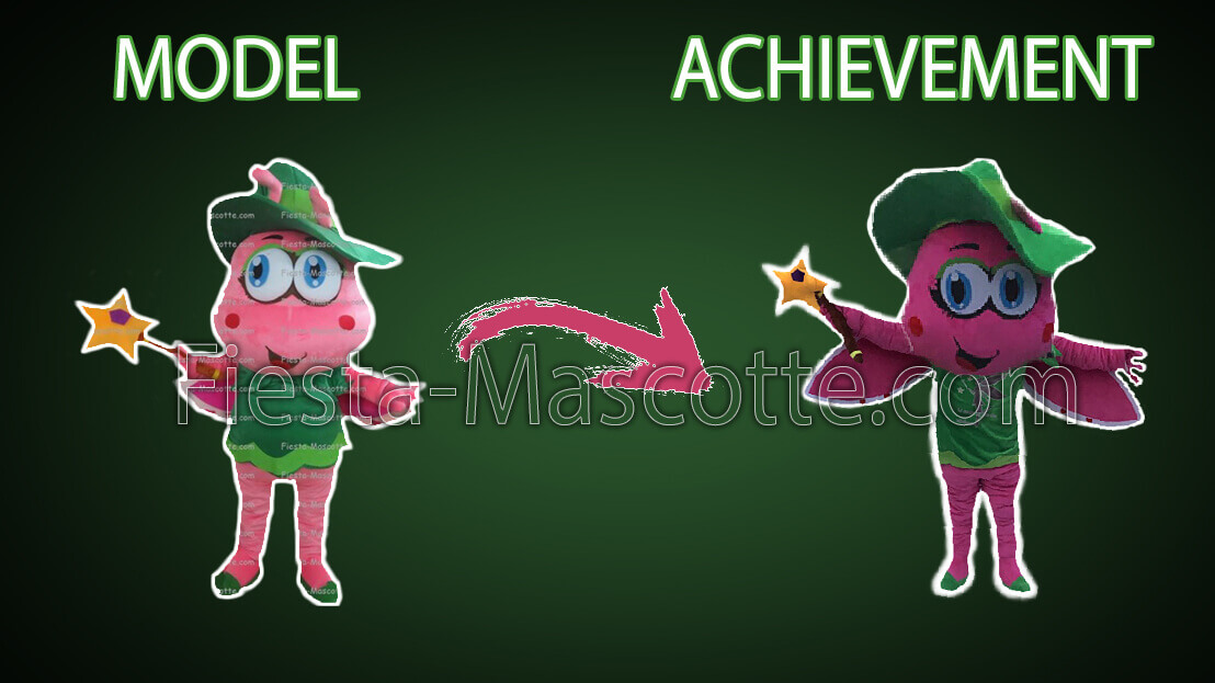 model and achievement fairy mascot