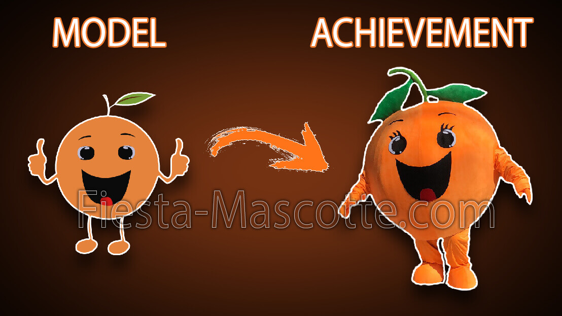 model and achievement  clementine mascot