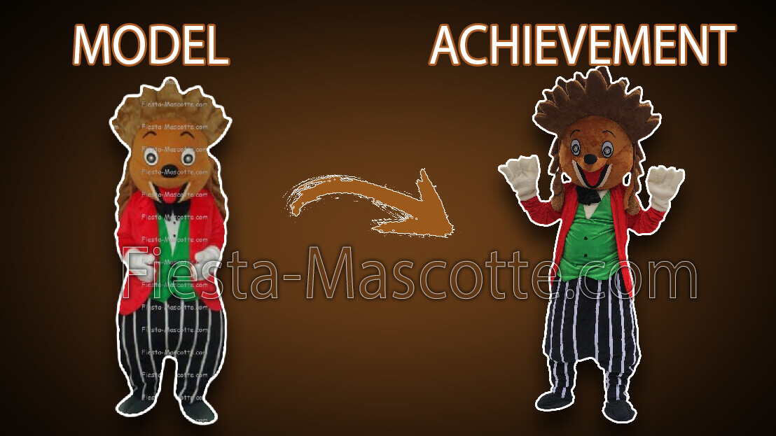 model and achievement hedgehog mascot