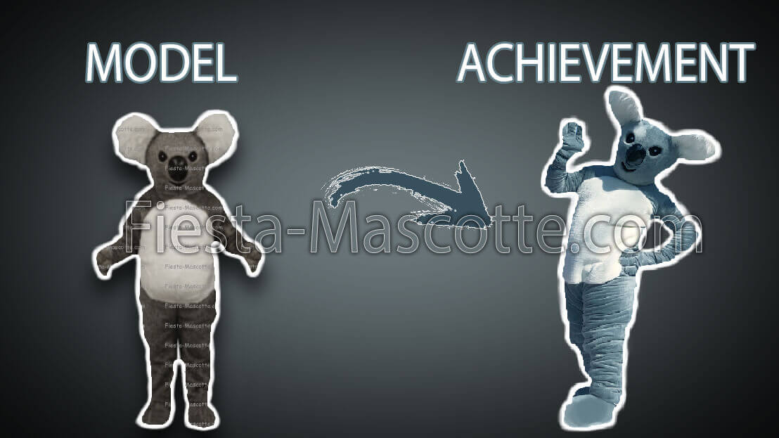 model and achievement koala mascot
