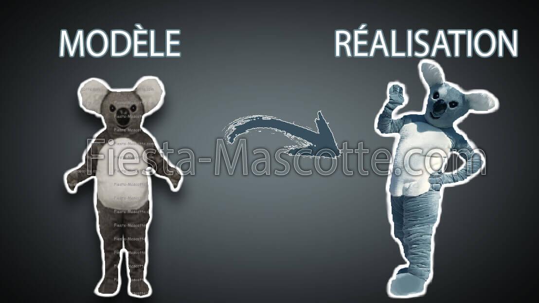 modèle et réalisation de la mascotte koala