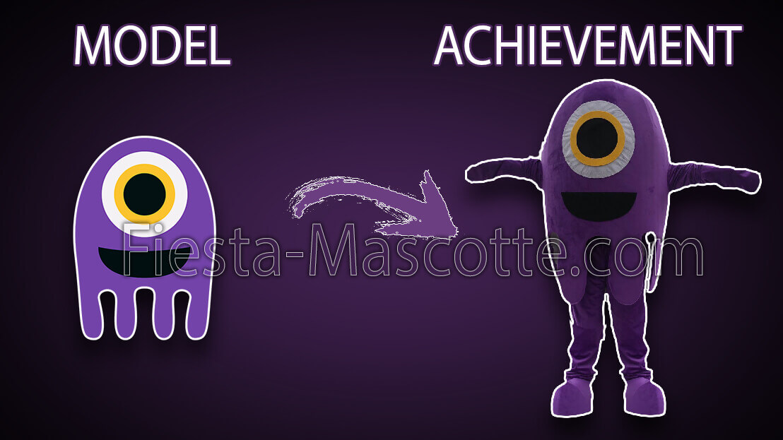 model and achievement alien mascot